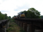 CSX 614 & CSX 645 riding the Trestle WB